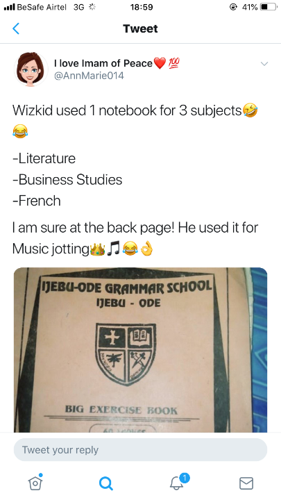 Fine Handwriting - Fans React To Wizkid's Note Book In JSS1 (Photo) 2